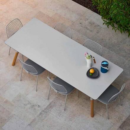 Varaschin Link tabel extensie grădină cu picioare din lemn de tec, H75 cm