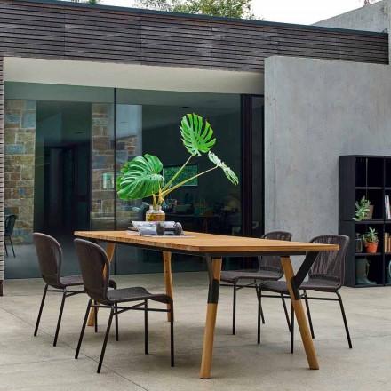 Varaschin Link lemn de tec mese de grădină de masă H 75 cm