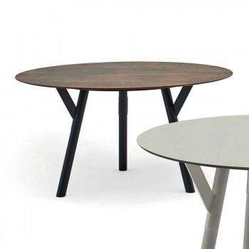 Tabel Varaschin Link-uri rotundă pentru design modern interior / exterior, H 65 cm