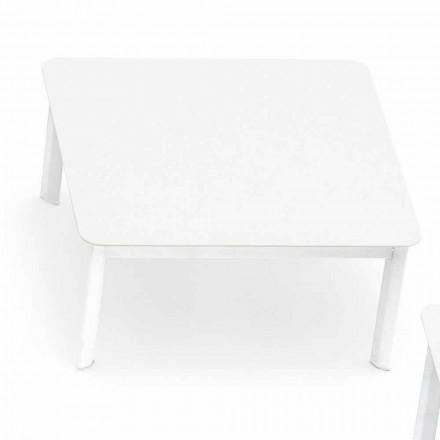 Varaschin Design de masă de cafea în aer liber din aluminiu vopsit