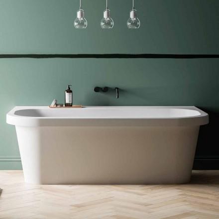 Cada de baie gratuită, stralucitoare / mată albă și făcută în Italia - Margex