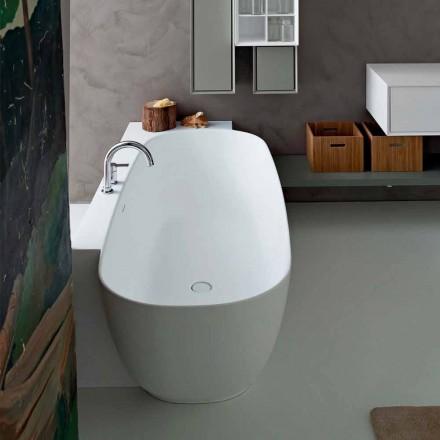 Cadă de sine stătătoare cu design alb stil modern - Lipperiavas1