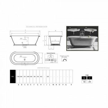 Design de baie în baie de fier turnat cu finisaj lucios Pierce