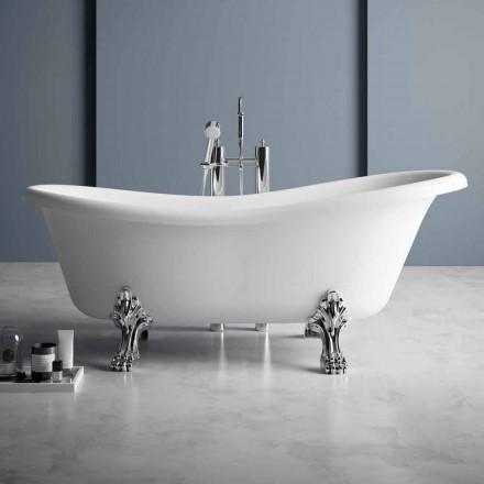 Cada de baie liberă, design victorian în suprafață solidă - ploaie