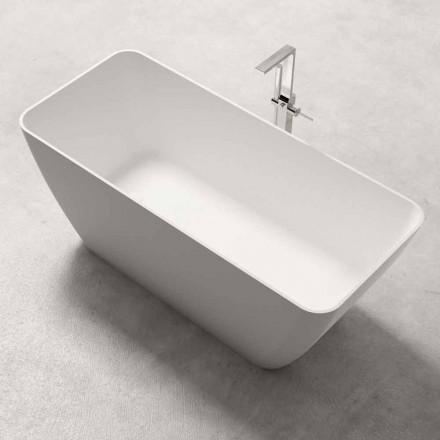 Design modern Cada de baie liberă stralucitoare sau mată albă - față