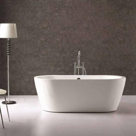 Design baie în alb acrilic de sine statatoare Nicole 1775x805 mm