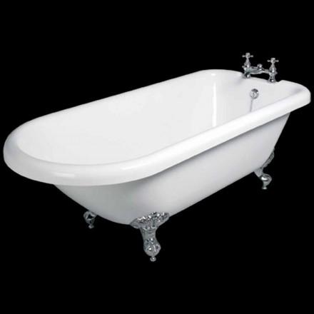 Design baie de sine statatoare alb acrilic Sunset 1770x795 mm