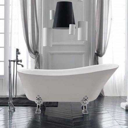 Freestanding Design baie în vara acrilic alb 1700x720 mm