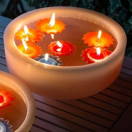 Cada rotundă de ceară cu lumânări plutitoare colorate realizate în Italia - Utina