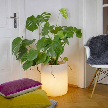 Vaza cu iluminare solară sau design cu led pentru interior sau exterior - Cilindrostar