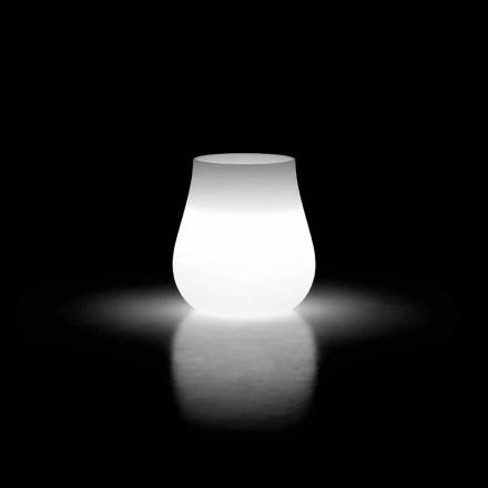 Vază de picior cu design luminos în aer liber din polietilenă Made in Italy - Monita