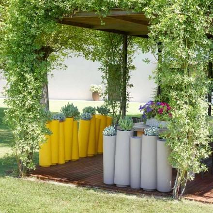 Vaza decorativă în aer liber Slide Bamboo design modern făcut în Italia