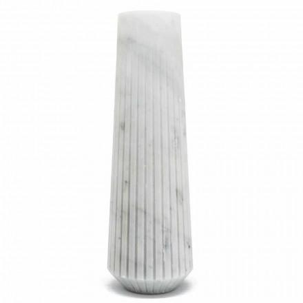 Vază decorativă modernă din marmură albă de Carrara fabricată în Italia - Cairo