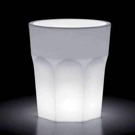 Vaza decorativa luminoasa din polietilena cu lumina LED Made in Italy - Pucca