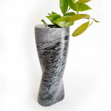 Vaza decorativă modernă din marmură Bardiglio Fiorito Made in Italy - Dido