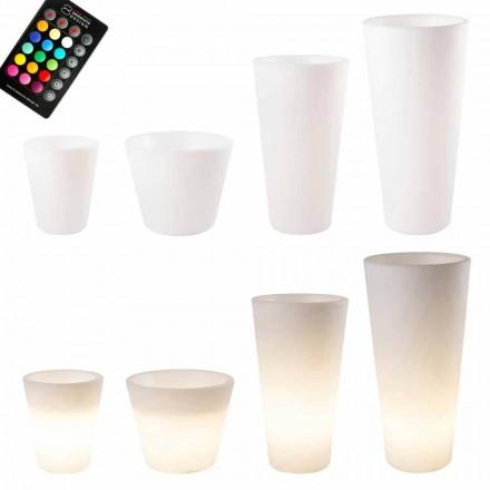 Oală luminată cu LED multicolor sau solar pentru grădină sau cameră de zi - Vasostar