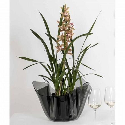 Vaze Pina, design-ul exterior / interior drapat fum moderne
