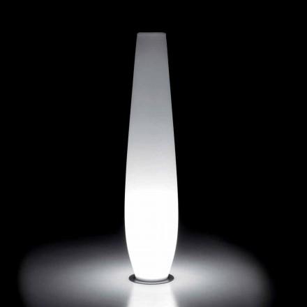 Vaza luminoasă pentru exterior cu lumină LED din polietilenă Made in Italy - Nadai