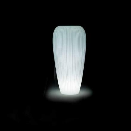 Vază exterioară strălucitoare în polietilenă cu design modern - piele de Myyour