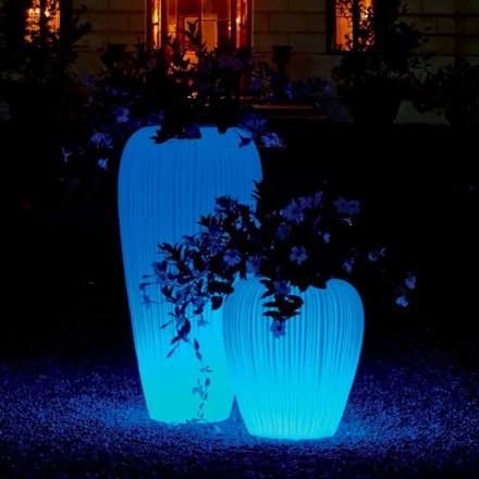Vaza luminoasă de design modern cu baterie cu inducție RGBW - Skin de Myyour