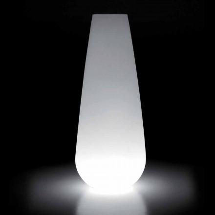 Vaza luminoasă pentru design exterior în polietilenă Made in Italy - Menea