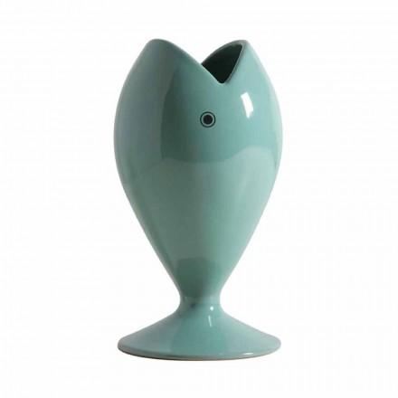 Vaza de flori din ceramică artizanală modernă fabricată în Italia - auriu