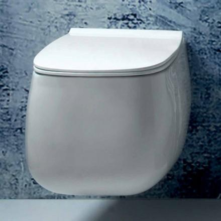 Design modern, ceramică albă suspendată Gaiola, realizată în Italia