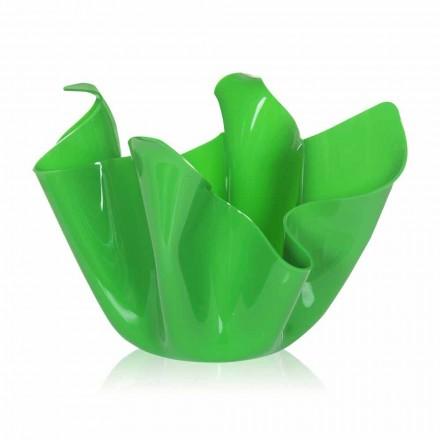 vaza verde interior de proiectare / în aer liber drapată Pina, made in Italy