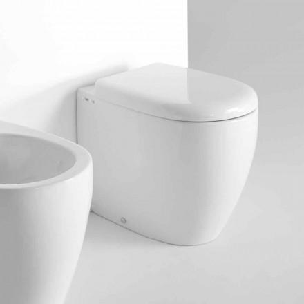 WC de podea cu design modern în ceramică colorată fabricată în Italia - Lauretta