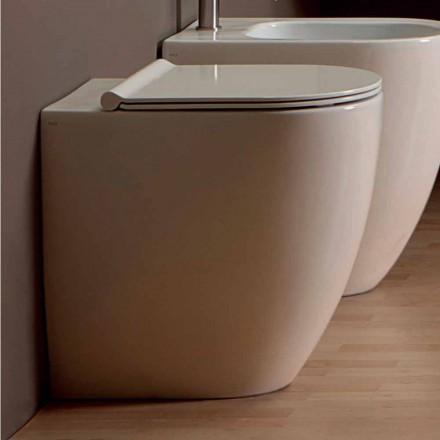 Vas WC în alb ceramice design modern Shine Piața H50 fără ramă