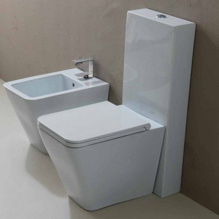 Vas WC în alb ceramice design modern Sun Square, made in Italy
