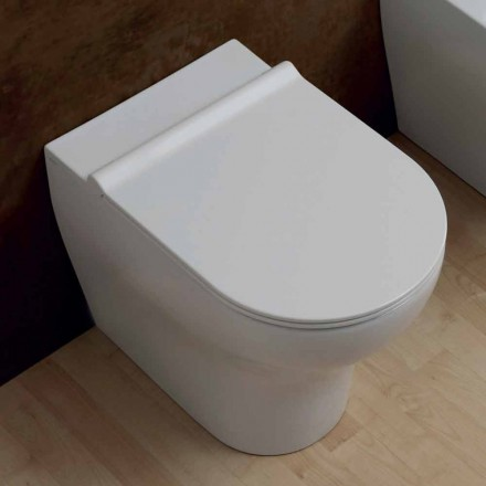 Vas WC alb ceramice 54x35cm stele Made in Italy, design modern