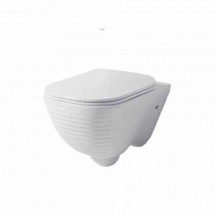 Modernă vază suspendată din toaletă din ceramică albă sau colorată Trabia