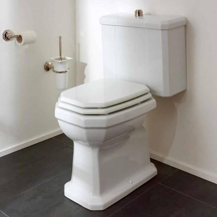 Vas de toaletă din ceramică albă cu casetă, fabricat în Italia - Nausica