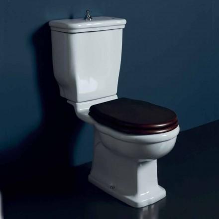 Vaso-bucata toaletă în ceramica alba Stil 72x36 cm, made in Italy