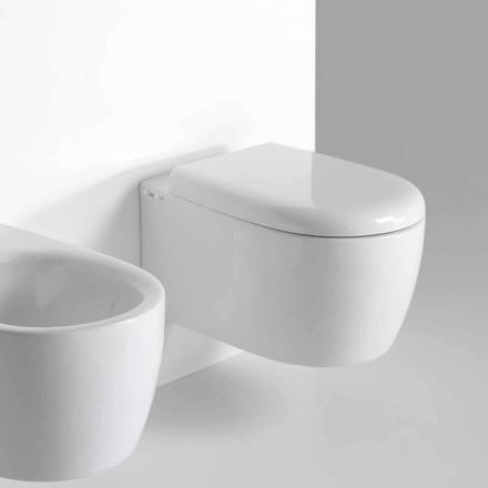 WC de perete cu design modern în ceramică colorată făcută în Italia - Lauretta