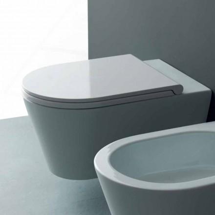 Pot atârna într-o toaletă modernă rotund al soarelui 57x37 cm ceramice, realizate în Italia