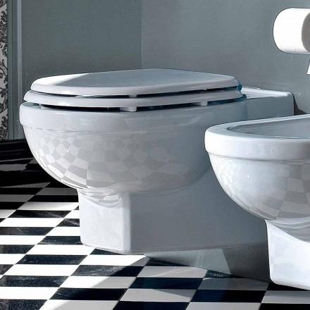 Stil clasic cu vase suspendate Wc în ceramică albă fabricată în Italia - Marwa