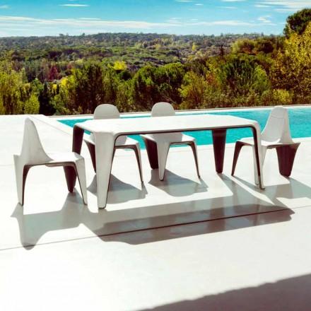 Vondom F3 masă de grădină L190xP90cm din polietilenă, design modern
