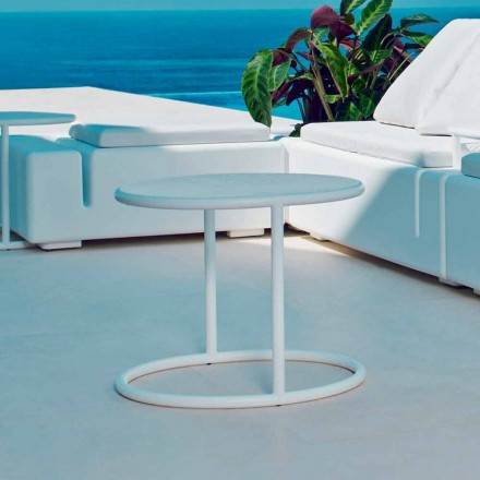 Vondom Kes masă de grădină din oțel rotund, design modern