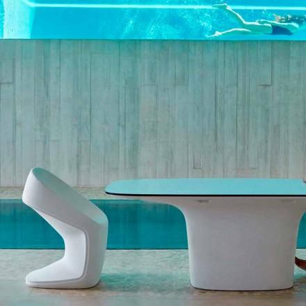 Vondom Ufo scaun de grădină alb modern, L56 x P62 x H83 cm