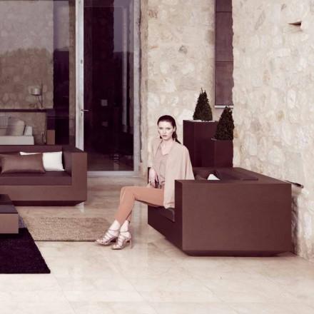 Vondom Vela fotoliu modern de gradina din polietilenă lăcuită din bronz