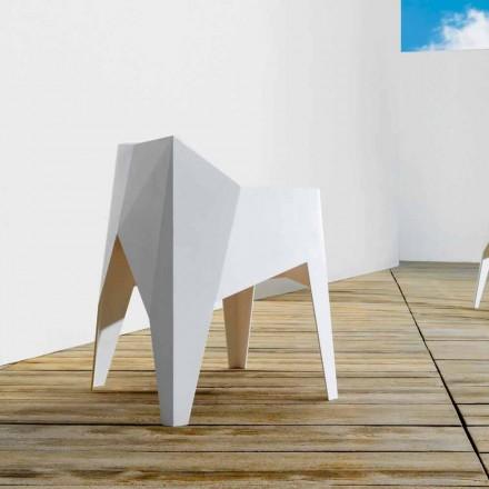 Vondom Voxel scaun modern de gradina colorat in polietilena, 4 piese