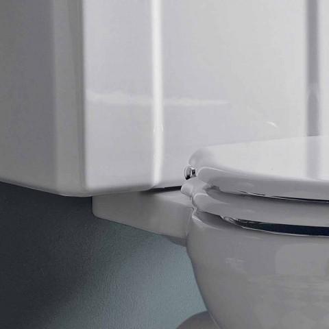Toaletă monobloc vintage din ceramică albă cu casetă fabricată în Italia - Marwa