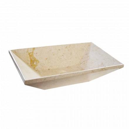 Wok blat de blat în formă de marmură, formă trapezoidală